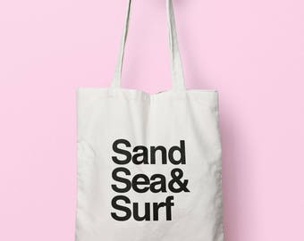 Sand Sea & Surf Tote Bag Long Handles TB00568