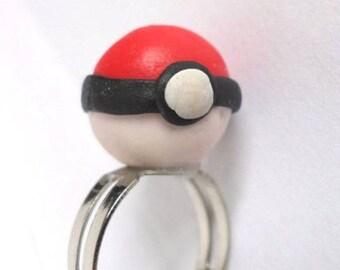 Ring Fimo Pokemon pokeball