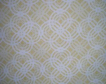 yellow and white studiojaune patchwork fabric