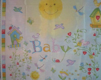 """baby"" pastel quilt Panel"