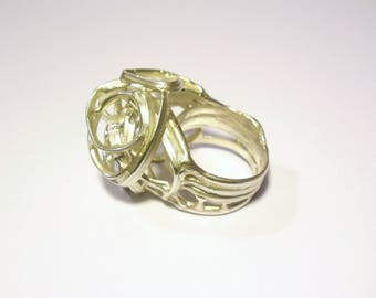 """Ring ball """"emberlificotis"""" Sterling Silver 3"""