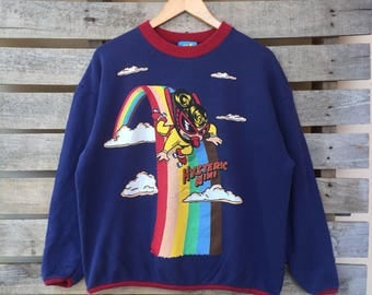 Rare! Vintage Hysteric Glamour Sweatshirt Big Logo Jumper Pullover 90s M Size Rare Item