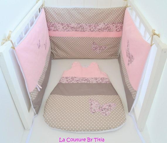 tour de lit et gigoteuse 0 6 mois fait main papillon liberty. Black Bedroom Furniture Sets. Home Design Ideas