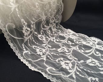 Ribbon lace trim 531 couture ivory deco wedding