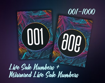 Facebook Live Sale Numbers - Facebook Live Sales Tags - 001-1000 - Mirrored and Normal Number Tags - Instant Download - Approved Font&Colors
