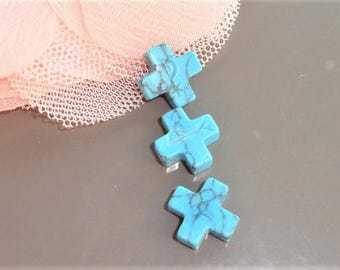 Cross turquoise beads