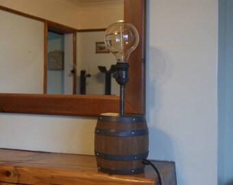 Wooden Barrel Lamp