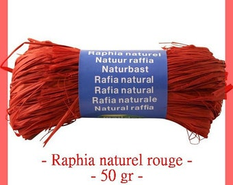 Natural raffia red 50 g