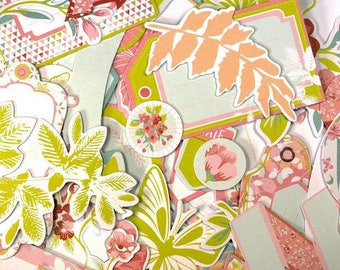 Embellishments - Die cuts secret garden - from 3 to 8 cm - 54 pcs - Toga - new