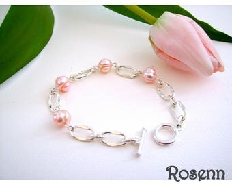 Bracelet pearls Rosenn
