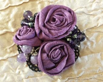 Romantic silk brooch