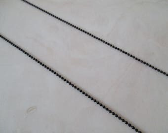 black metal 36cm ball chain