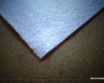 Felt square white 5x5cm ideal for your creations