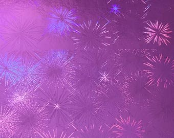 A4 paper recyclable holographic - different patterns - vivid - pink /motif Fireworks