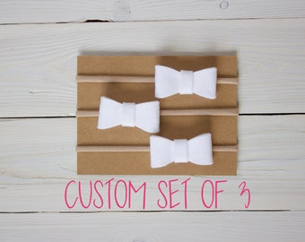 Baby Headband, Bow Headband, CUSTOM SET OF 3