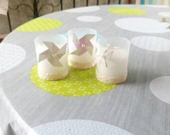 Bougie cadeau d'invité baptême, mariage