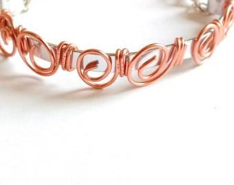 rose gold aluminum Wire Bracelet
