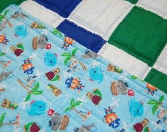 A'hoy Matey Baby Boy Patchwork Quilt