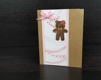 Welcome baby, Congratulations Baby card, Baby shower card, Gender neutral, baby girl, baby boy, custom baby card
