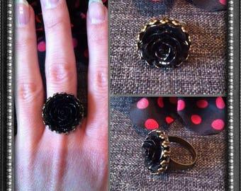 Rose Noire bronze Adjustable ring