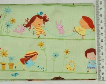 "100% cotton. Patchwork embroidery. ""Hopscotch"". 02"