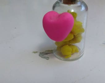 star and heart bottle charm