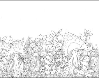 Printable Coloring Page | Garden