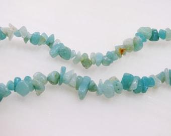 beads of water green amazonite chips
