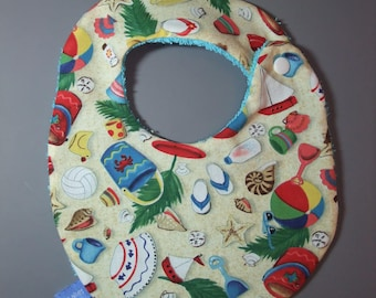 Cotton Beach baby bib