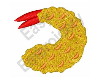 Fried Shrimp - Machine Embroidery Design