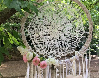 Dream catcher/dreamcatcher Bohemian 40 cm diam.