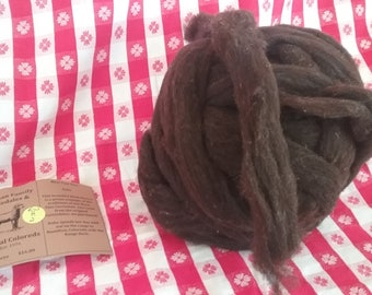 Black Corriedale Roving