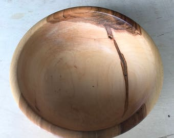 Hand carved oak bowl- medium size
