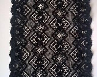 Genuine black Caudry lace