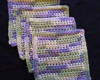 Crocheted mug rugs set of 4