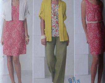 Women's Pullover Dress, Tunic, Pull-on Pants, Cardigan Pattern, Simplicity 2262, Size M - XXL