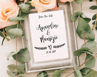 Wedding - personalized poster