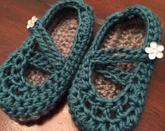 Mary Jane Crochet Slipper