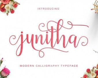 Calligraphy Font, Digital font, Calligraphy font download, Handwritten font, Instant download, Cursive font