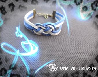 """Suede sailor knot """"Neptune"""" bracelet"""
