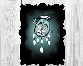 Art Print Dreamcatcher Dragon Instand Print