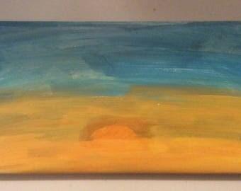 Hand painted Sunset Ceramic Tile