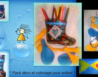 Deco Pack child * colorful and useful * 100% recycling