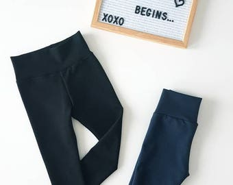 Black Jeggings / Navy Jeggings / Leggings / Baby Clothes / Kid Clothes / Toddler Clothes / Baby Leggings / Toddler Leggings / Pants/ Joggers