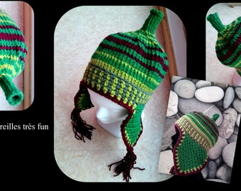Hat, colorful, fun and very comfortable warm