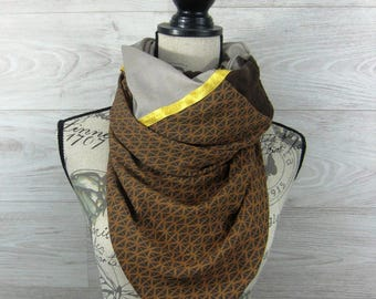 Brown taupe 2.07.35 100x100cm square fashion scarf