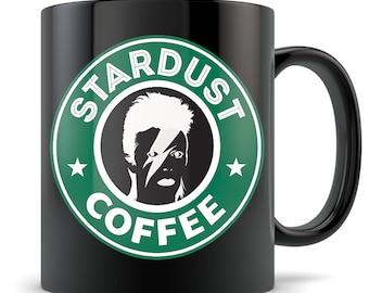 Ziggy Stardust Coffee Mug - David Bowie Inspired Tribute Coffee Cup Gift - Funny Starbucks Parody