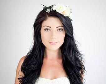 Flower Crown | Bridal Headpiece | Floral Crown | Flower Headpiece | Flower Hairband | Floral Hair Wreath