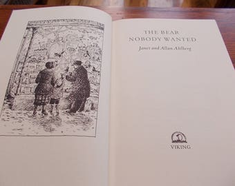 hb 1st true edition 1992 The Bear nobody Wanted janet and john ahlberg