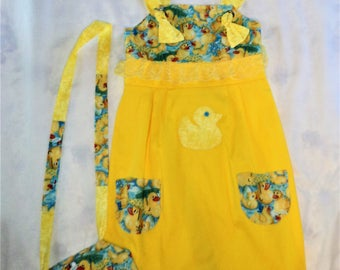 Girls handmade dress/purse